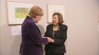 German Chancellor Angela Merkel opens Holocaust exhibition in Berlin