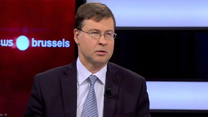 Еврокомиссар Валдис Домбровскис о спасении Греции