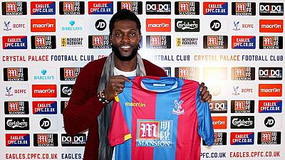 Adebayor completes move to Crystal Palace till end of season