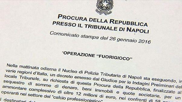 Hasta 64 personas implicadas en una redada contra la evasión fiscal en el Calcio