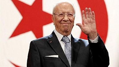 Tunisia's President Essebsi arrives in Kuwait