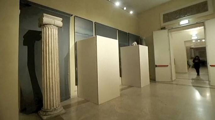 Nude statues covered in Rome so as not to offend Iranian president