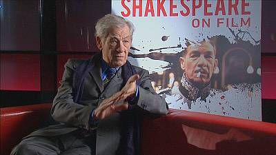 "Sir Ian McKellen takes to a bus for ""Shakespeare on Film"""