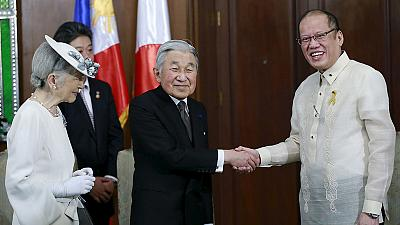 Japanese Emperor in the Philippines amid protest from wartime sex slaves
