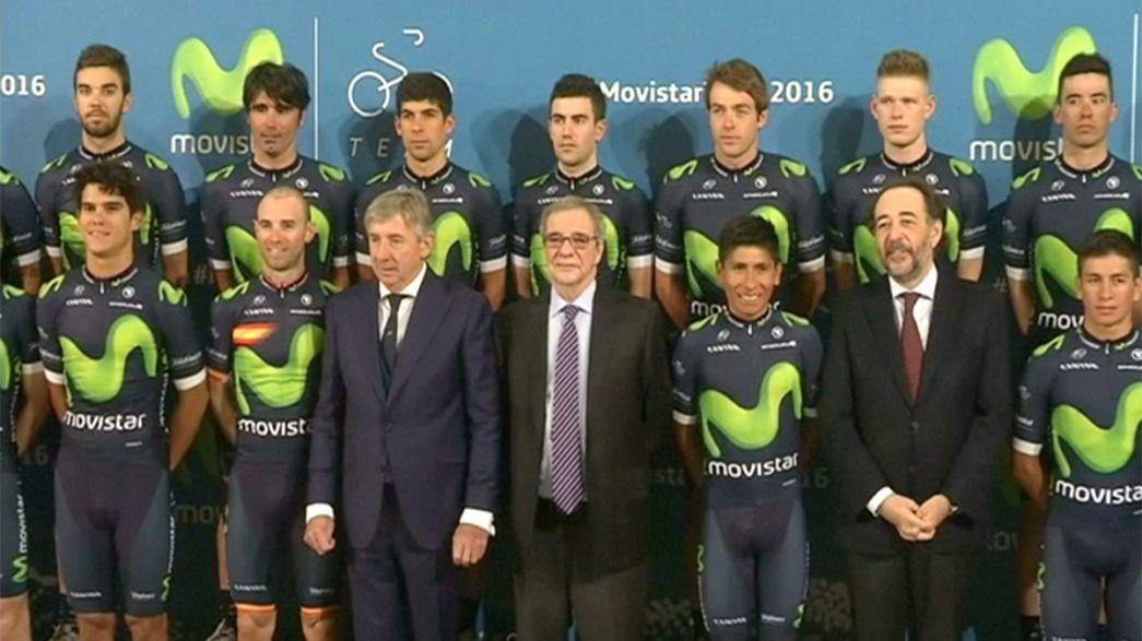 El equipo Movistar, con el Tour de Francia entre ceja y ceja