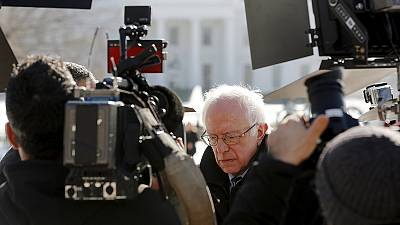 Democratic candidate Bernie Sanders has rare audience with US president