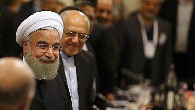Iran's President Rouhani seeks to revive business ties in Paris