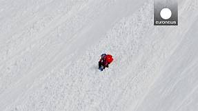 Daredevil skier falls 1,000 feet, emerges unscathed