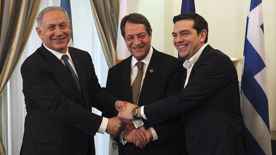 Reunião para reforçar cooperação entre Grécia, Chipre e Israel