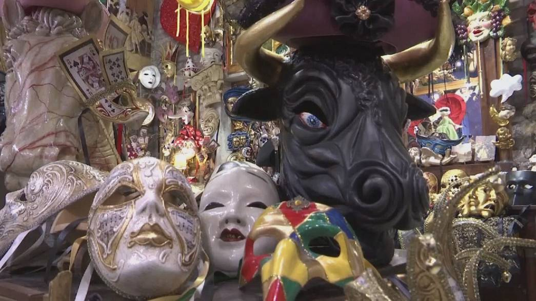Carnival in Venice brings out masks and elaborate costumes to the squares of the canal city
