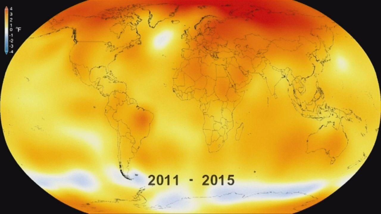 Temperatura da Terra atinge nível mais elevado de sempre