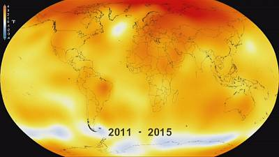 Climate change: UN report confirms 2015 hottest year since records began