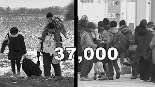Flüchtlinge trotzen Mauern, Schnee und Minusgraden