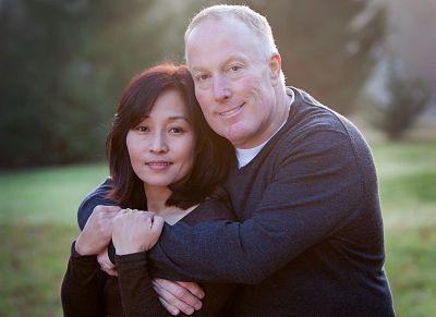 Mike Veley and his wife, Kanako.