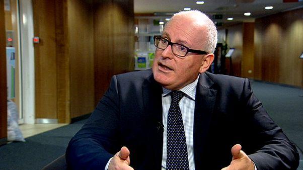 """""""Wir müssen gemeinsam handeln"""" - Vizechef der EU-Kommission Timmermans über den Streit zwischen Brüssel und Athen -"""