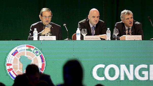 اتحاد جنوب أمريكا لكرة القدم يؤيد ترشح جياني إنفانتينو لرئاسة الفيفا