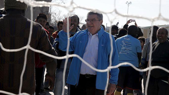 Olimpiyat Komitesi mültecileri onurlandırdı