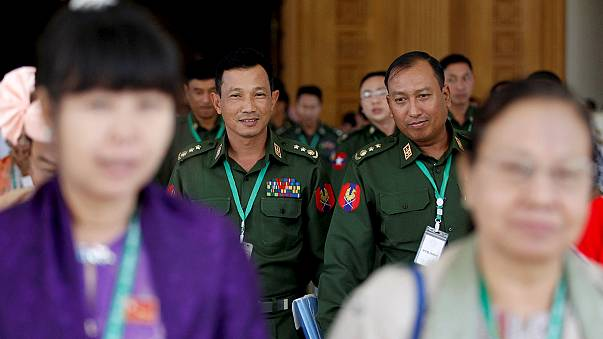 Myanmar generals hand over power to Suu Kyi's NLD