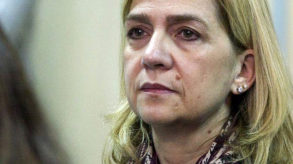 محكمة إسبانية ترفض طلب الأميرة كرستينا دي بوربون  بإسقاط التهم عنها  .
