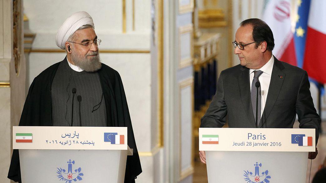 Europa da la bienvenida a el presidente iraní