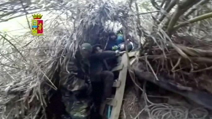 Elfogtak két olasz klánvezért, akik évek óta az erdő közepén, bunkerben éltek