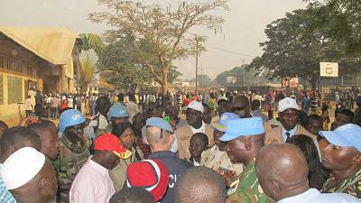 Hundreds protest over alleged election irregularities in C.A.R