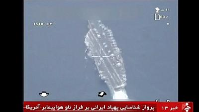 "Iranian drone takes ""precise"" photos as it flies over US aircraft carrier"