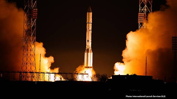 First part of new space 'data highway' blasts off from Kazakhstan