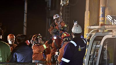 Footage captures Chinese miners' relief ahead of 'miracle' rescue