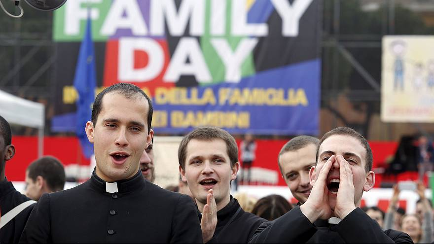 Rome rally defends traditional family as Italy debates same-sex unions