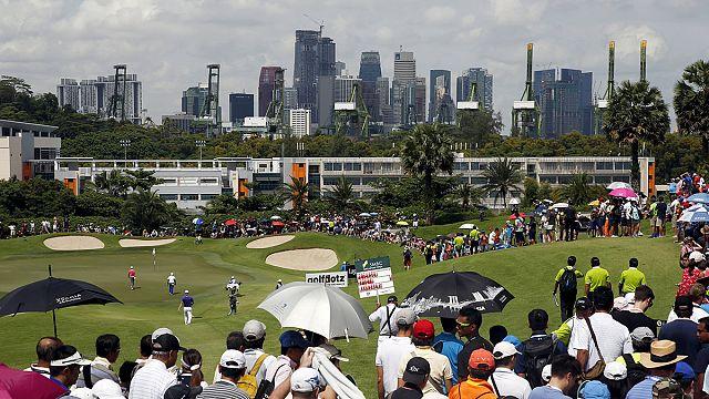 Golf: Singapur'da 3. ayak yine yarım kaldı