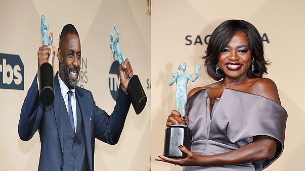 """ممثلون من اصحاب البشرة السمراء يحصدون العديد من جوائز في حفل """"ساغ"""""""