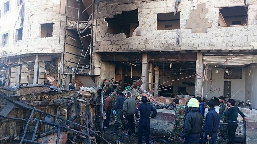 Blasts close to Damascus' main Shi'ite shrine kill 60 - monitor