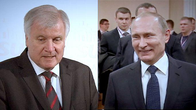 Bavyera Eyaleti Başbakanı Seehofer'in Moskova ziyareti kızdırdı