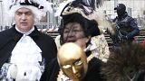 Piazza San Marco gremita di persone per il Carnevale nonostante rischio attentati e controlli rinforzati