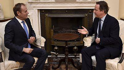 Tusk hará este martes una propuesta para mantener al Reino Unido dentro de la UE