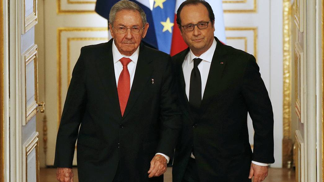 Cuba and France sign deals and promise to deepen friendly ties