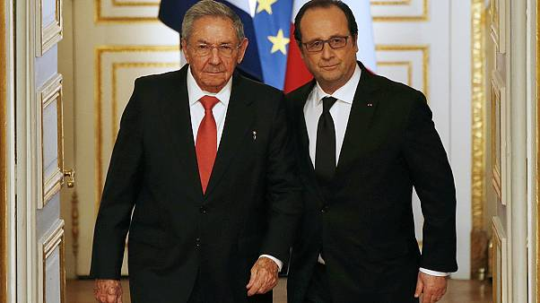 Castro in Paris: Hollande fordert Ende des US-Embargos