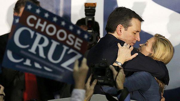 تيد كروز يفوز على منافسه دونالد ترامب في الانتخابات الأولية في ولاية آيوا