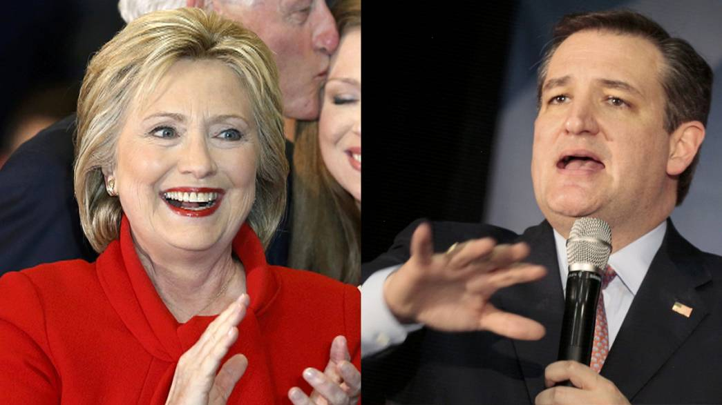 Cruz draws first blood in USA Republican race; Clinton claims narrowest of victories for Democrats