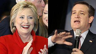 تد کروز جمهوریخواه و هیلاری کلینتون دموکرات برندگان انتخابات مقدماتی در آیووا