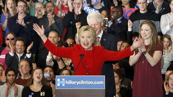 هيلاري كلينتون تفوز في الانتخابات التحضيرية للديمقراطيين في أيوا، وتيد كروز يتفوق على دونالد ترامب من جهة الجمهوريين