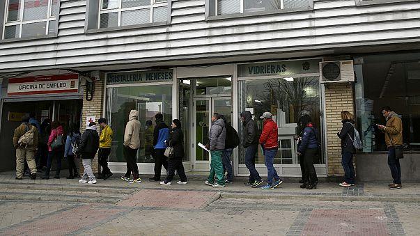 Subida del paro y descenso del empleo en España tras la campaña navideña