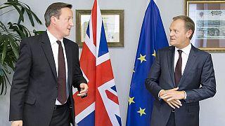 British PM says draft EU deal shows 'real progress'