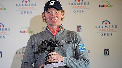 Snedeker wins weather-hit Farmers Insurance Open