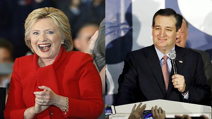 Scrutin de l'Iowa : Clinton et Cruz vainqueurs