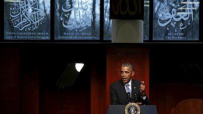 Première visite d'Obama dans une mosquée américaine