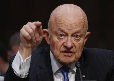 Former National Intelligence Director James Clapper testifies on Capitol Hill on May 8.