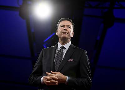 Former FBI director James Comey speaks during the Canada 2020 Conference in Ottawa on June 5, 2018.