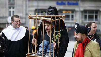 Arranca el desfile de carnaval en Colonia con más seguridad